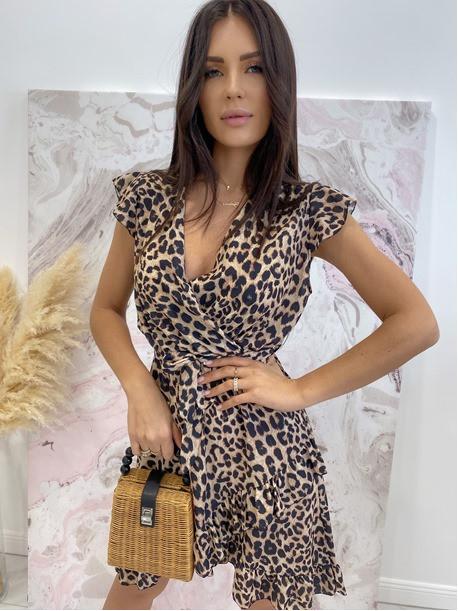 Sukienka asymetryczna w panterę Jill 17