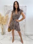 Sukienka asymetryczna w panterę Jill 17 - photo #1