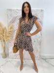 Sukienka asymetryczna w panterę Jill 17 - photo #3