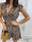 Sukienka asymetryczna w panterę Jill 17 - photo #6