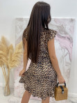 Sukienka asymetryczna w panterę Jill 17 - photo #7
