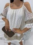 Sukienka narzutka koronkowa z cekinami Edna 24 - photo #4