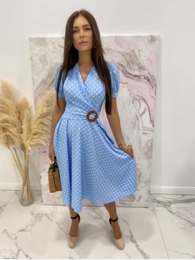 Sukienka w grochy niebieska Felicja 17