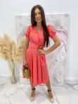 Sukienka w grochy czerwona Felicja 17 - photo #1