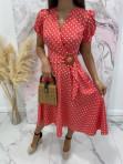 Sukienka w grochy czerwona Felicja 17 - photo #3