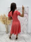 Sukienka w grochy czerwona Felicja 17 - photo #4