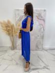 Sukienka maxi z żabotem Chabrowa Liva 03 - photo #2