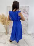 Sukienka maxi z żabotem Chabrowa Liva 03 - photo #3