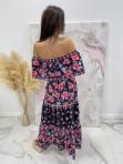 Sukienka hiszpanka w print kwiatów maxi czarna Agnes 28 - photo #6
