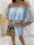 Sukienka hiszpanka niebieska Runita 09 - photo #2
