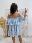 Sukienka hiszpanka niebieska Runita 09 - photo #3