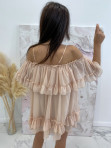 Sukienka hiszpanka brzoskwinia Runita 09 - photo #3