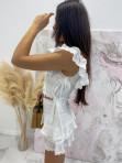 Komplet bluzka i spodenki koronkowy biały Lazura 89 - photo #4