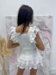 Komplet bluzka i spodenki koronkowy biały Lazura 89 - photo #6
