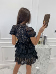 Sukienka koronkowa na krótki rękaw czarna Werka 09 - photo #5