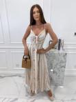 Sukienka maxi we wzory beżowa Sertona 17 - photo #0