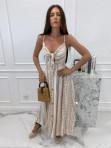 Sukienka maxi we wzory beżowa Sertona 17 - photo #1