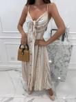 Sukienka maxi we wzory beżowa Sertona 17 - photo #2