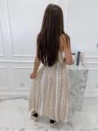 Sukienka maxi we wzory beżowa Sertona 17 - photo #3