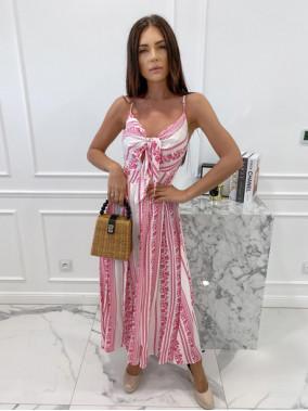 Sukienka maxi we wzory różowa Sertona 17