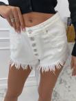 Spodenki jeansowe z przetarciami białe Dekar 126 - photo #3
