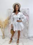 Sukienka al'a koszula z marszczeniem biała Miszka 48 - photo #2