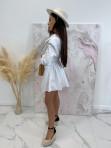 Sukienka al'a koszula z marszczeniem biała Miszka 48 - photo #5