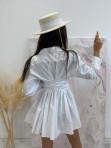 Sukienka al'a koszula z marszczeniem biała Miszka 48 - photo #6