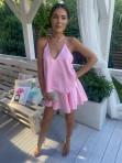 Sukienka mini różowa z falbanami Sibi 88 - photo #1
