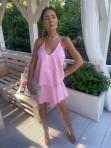 Sukienka mini różowa z falbanami Sibi 88 - photo #2