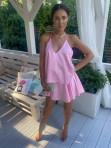 Sukienka mini różowa z falbanami Sibi 88 - photo #3