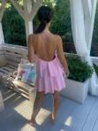 Sukienka mini różowa z falbanami Sibi 88 - photo #5
