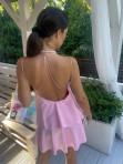 Sukienka mini różowa z falbanami Sibi 88 - photo #6