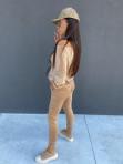 Dres welurowy bluza+spodnie beżowy Sairin 29 - photo #1