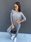 Dres welurowy bluza+spodnie szary Sairin 29 - photo #0