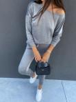 Dres welurowy bluza+spodnie szary Sairin 29 - photo #1