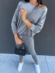 Dres welurowy bluza+spodnie szary Sairin 29 - photo #2