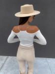 Bluzka z łańcuszkami i wyciętymi ramionami biała Azala 30 - photo #5