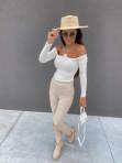 Bluzka z łańcuszkami i wyciętymi ramionami biała Azala 30 - photo #3