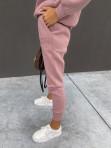 Komplet dresowy bluza z zamkami +spodnie brudny róż Adik 54 - photo #5