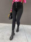 Spodnie zapinane na 4 guziki czarny jeans Jenny 14 - photo #3