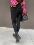 Spodnie zapinane na 4 guziki czarny jeans Jenny 14 - photo #4