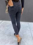 Spodnie jeansowe z paskiem i małym zamkniem z przodu czarne Olaf 14 - photo #3