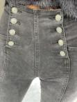 Spodnie jeansowe z guzikami po dwóch stronach czarne Tom 14 - photo #2
