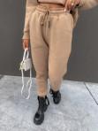 """Komplet dresowy spodnie+bluza z kapturem i napisem """"New Color"""" ciemny beż Ramzes 54 - photo #4"""