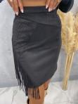 Spódniczka z frędzlami czarna Audrey 121 - photo #3