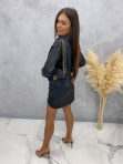 Sukienka satynowa mini czarna Nita 09 - photo #4