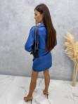 Sukienka satynowa mini granatowa Nita 09 - photo #4