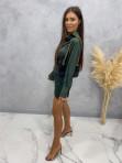 Sukienka satynowa mini ciemno zielona Nita 09 - photo #3
