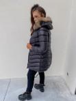 Kurtka pikowana dłuższa z futerkiem czarna Irvina 17 - photo #3